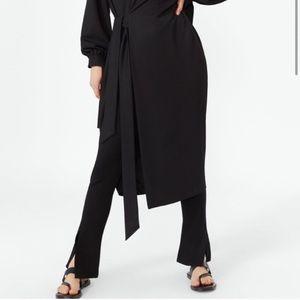 Zara Straight cut pants with slits